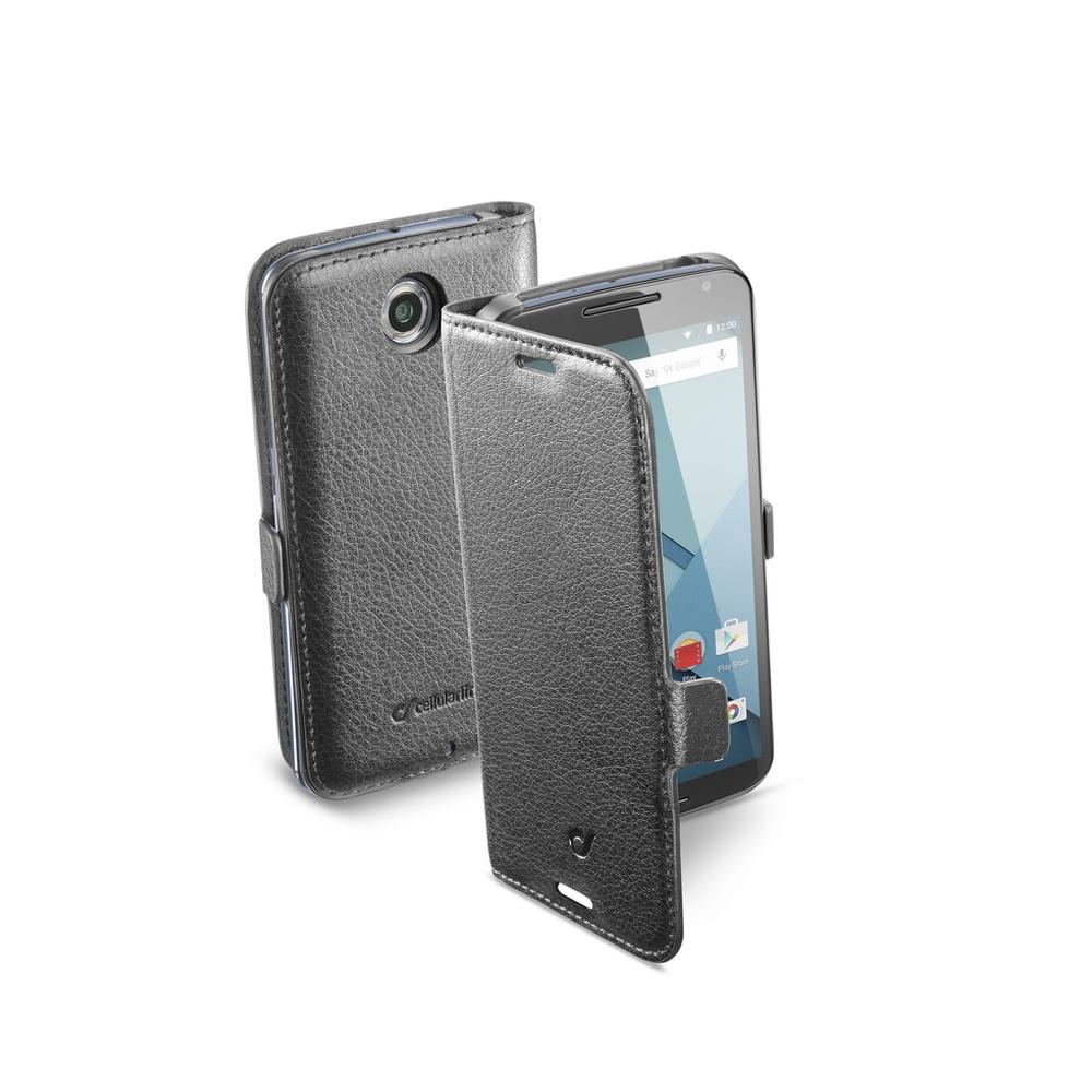 Pouzdro flip Motorola Nexus 6 CellularLine Book Essential černé