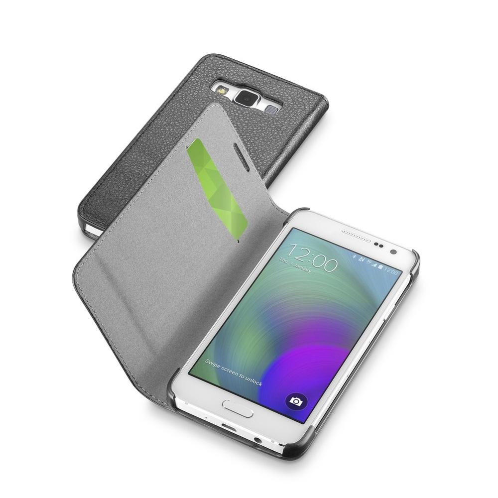 Pouzdro flip Samsung Galaxy A3 CellularLine Book Essential černé