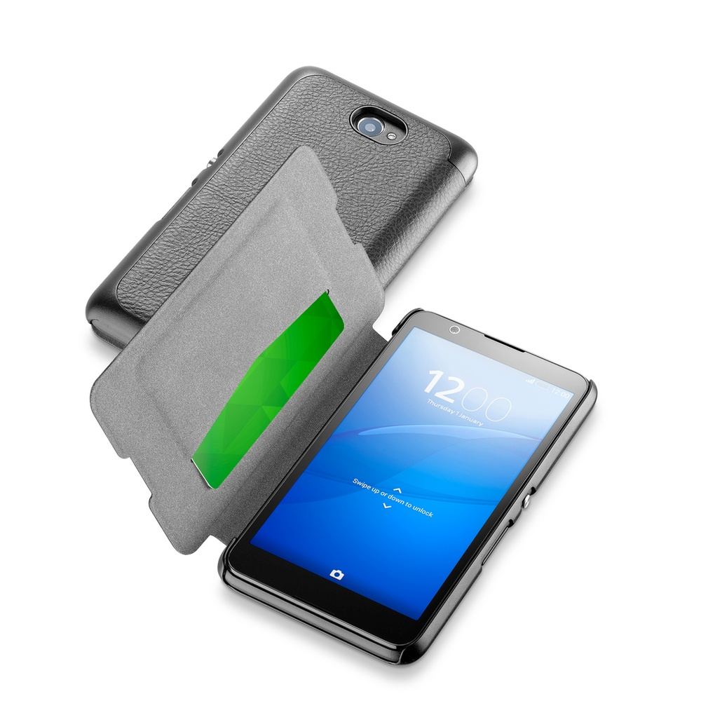 Pouzdro flip Sony Xperia E4 CellularLine Book Essential černé