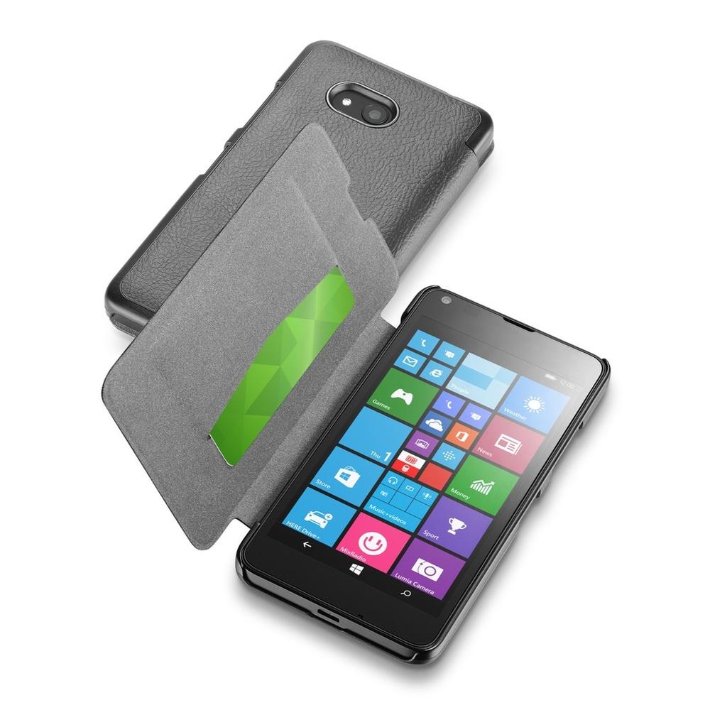 Pouzdro flip Microsoft Lumia 640 CellularLine Book Essential černé