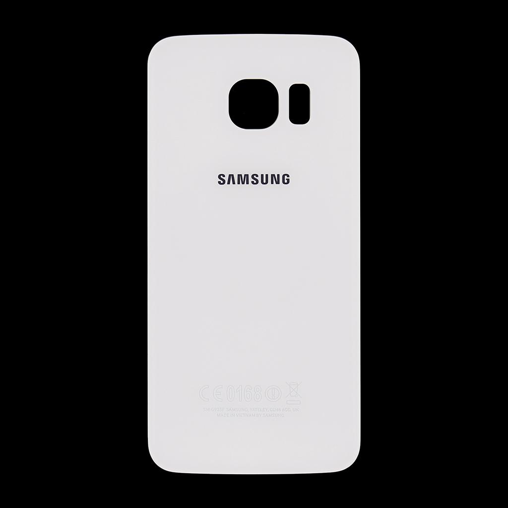 Zadní kryt baterie na Samsung Galaxy S6 G925 Edge bílý