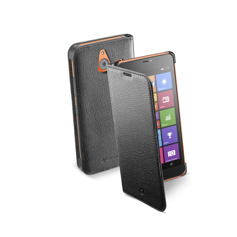 Pouzdro flip Microsoft Lumia 640 XL CellularLine Book Essential černé
