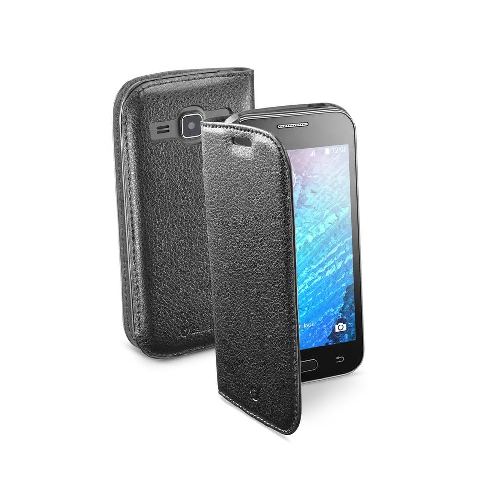 Pouzdro flip Samsung Galaxy J1 CellularLine Book Essential černé