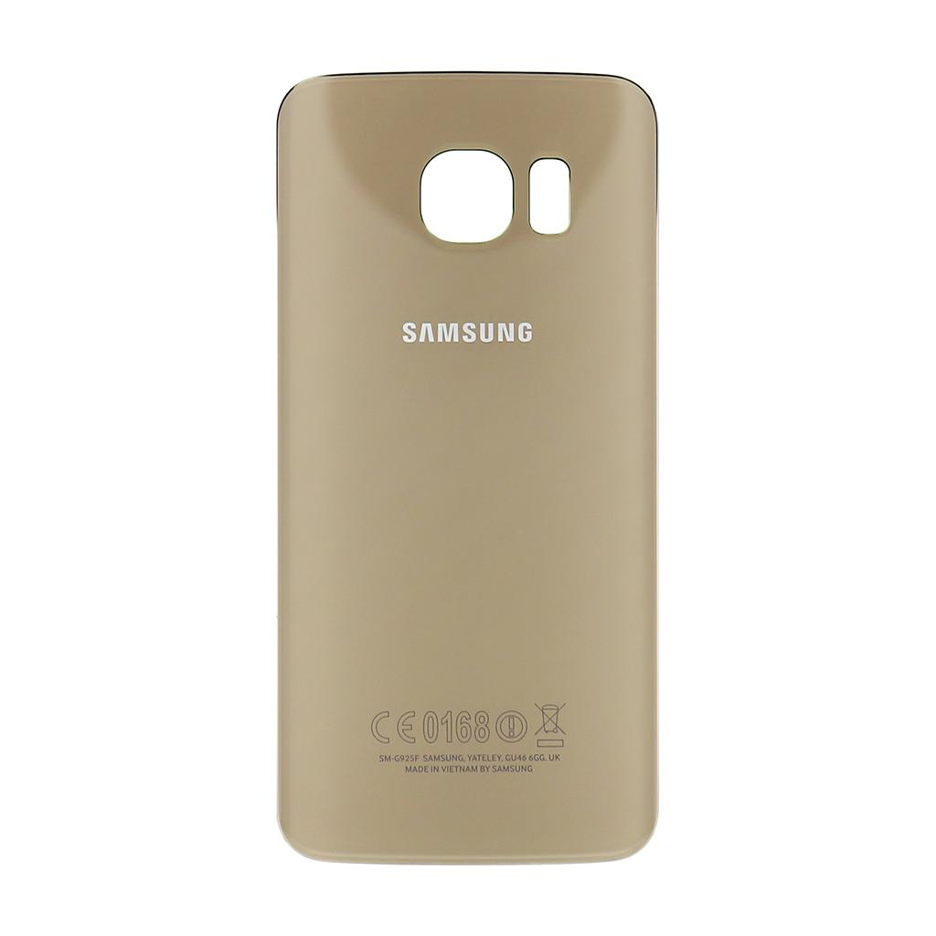 Zadní kryt baterie na Samsung Galaxy S6 G925 Edge zlatý