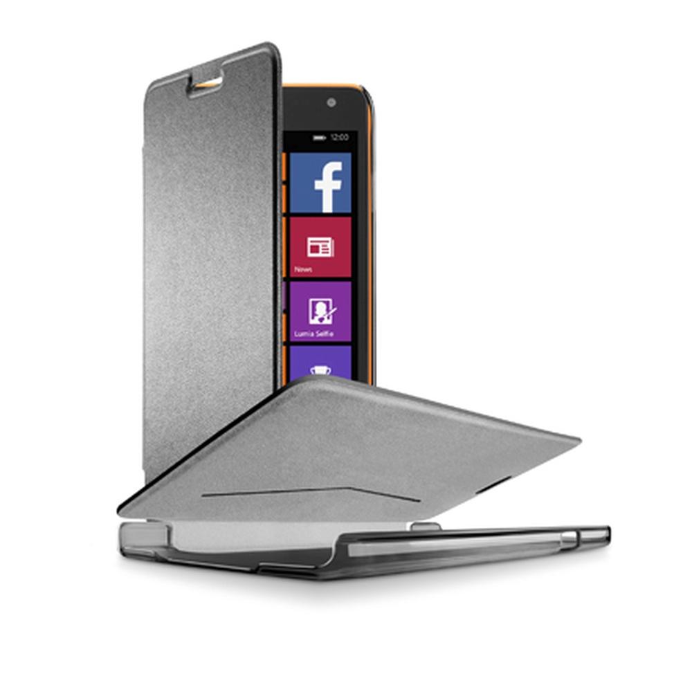Pouzdro flip Microsoft Lumia 535 CellularLine Book Essential černé