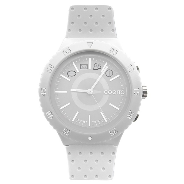 Bluetooth hodinky COGITOwatch 3.0 Pop White Crisp, bílé