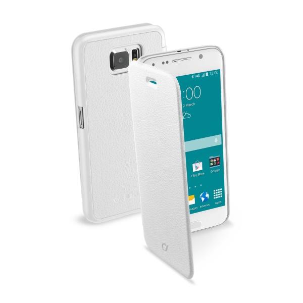 Pouzdro flip Samsung Galaxy S6 CellularLine Book Essential bílé