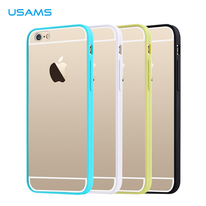 Silikonové pouzdro na iPhone 6, 4.7 USAMS Edge žluté