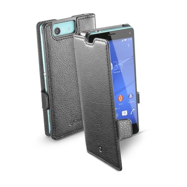 Pouzdro flip Sony Xperia Z3 Compact CellularLine Book Essential černé