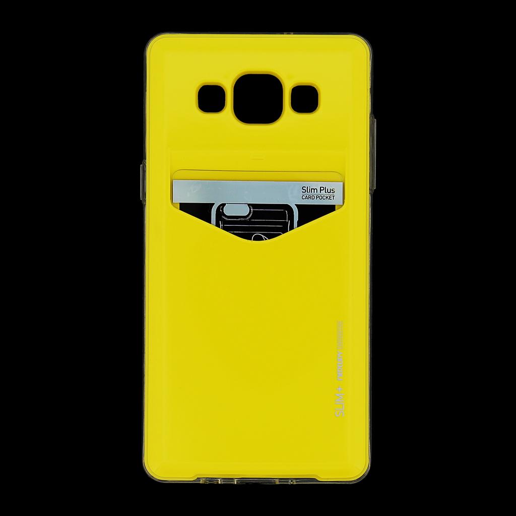 Zadní kryt na Samsung Galaxy A5 Mercury Slim Plus žluté