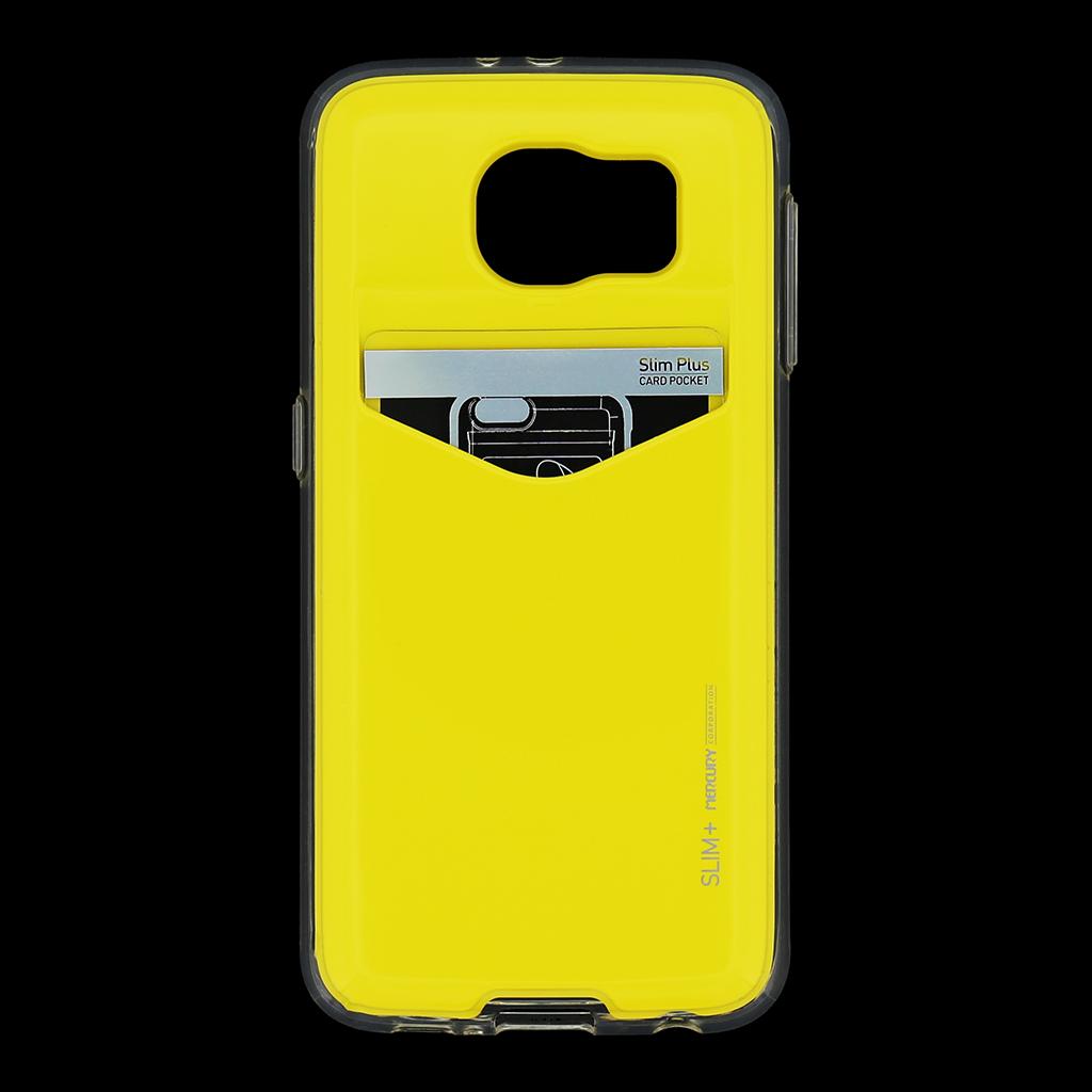 Zadní kryt na Samsung Galaxy S6 Mercury Slim Plus žluté