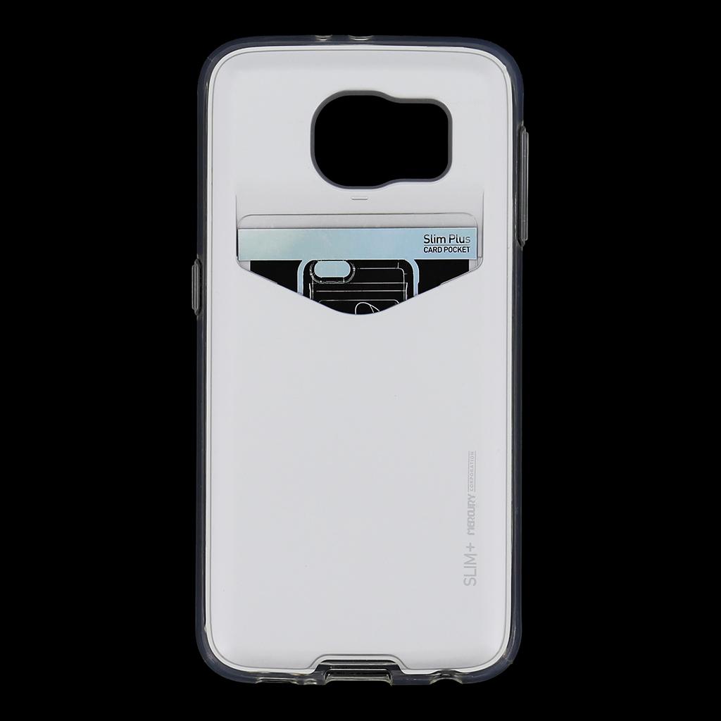 Zadní kryt na Samsung Galaxy S6 Mercury Slim Plus stříbrné