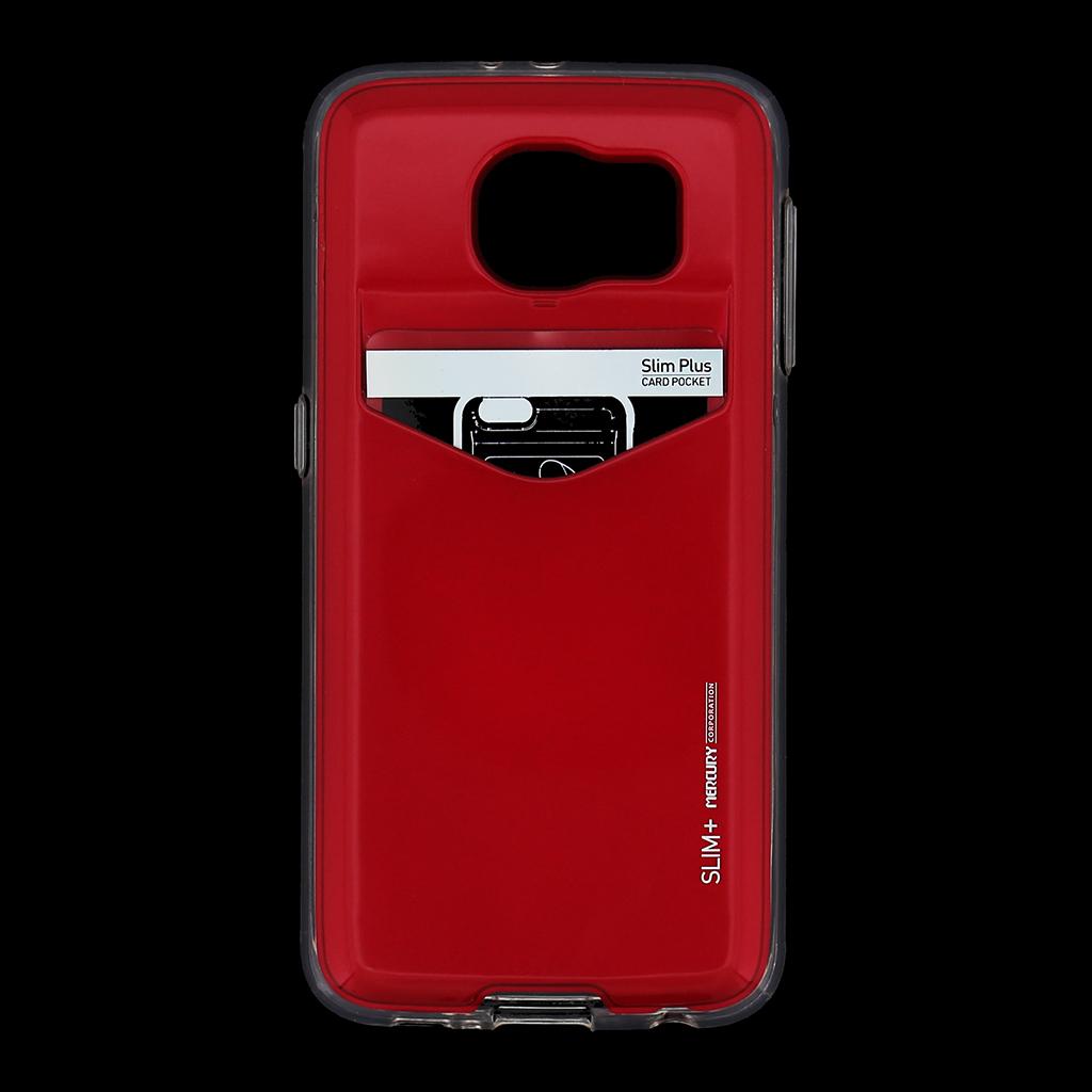 Zadní kryt na Samsung Galaxy S6 Mercury Slim Plus červené