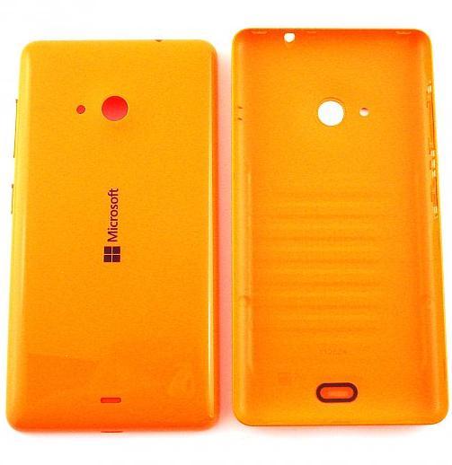 Zadní kryt baterie na Microsoft Lumia 532 oranžový