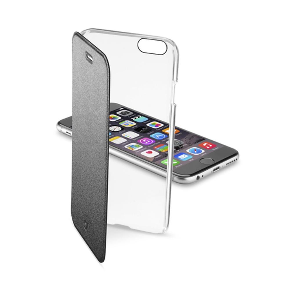 Pouzdro flip Apple iPhone 6 CellularLine Clear Book černé