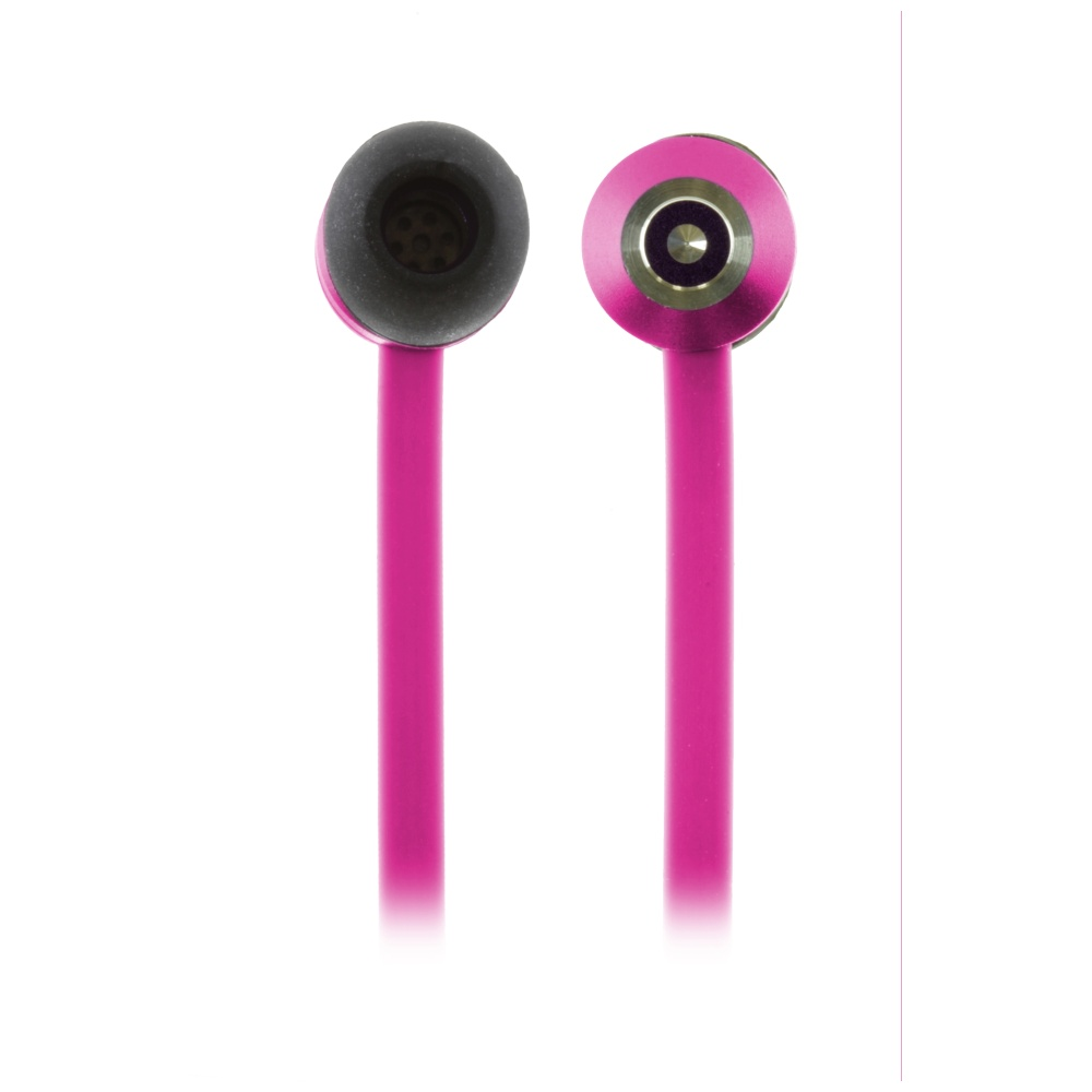 In-ear sluchátka KitSound Ribbons s mikrofonem 3,5 mm jack růžová