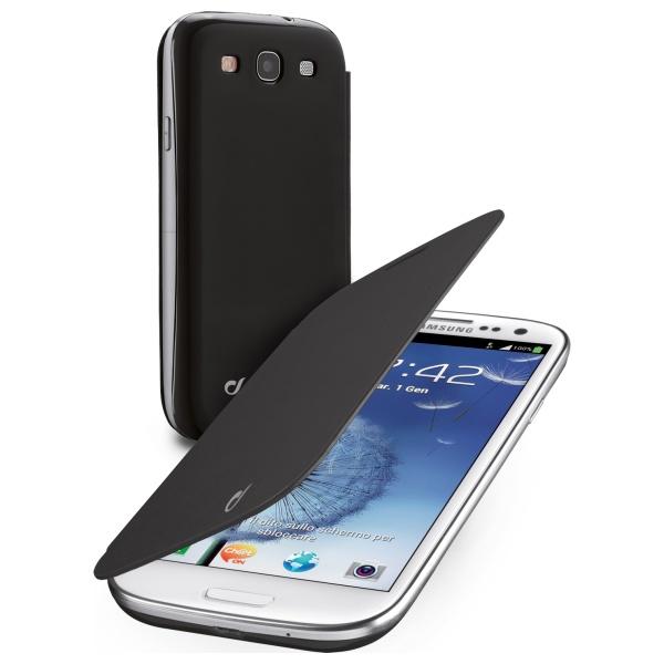 Pouzdro flip Samsung Galaxy S3/ S3 Neo CellularLine Backbook černé