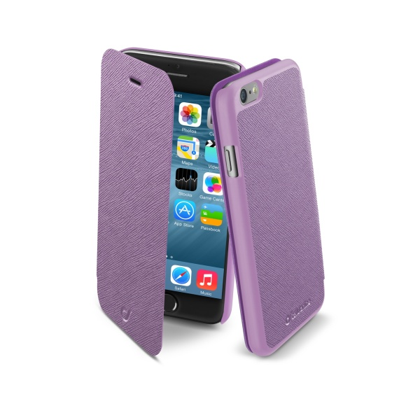 Pouzdro flip Apple iPhone 6 CellularLine Book Color růžové