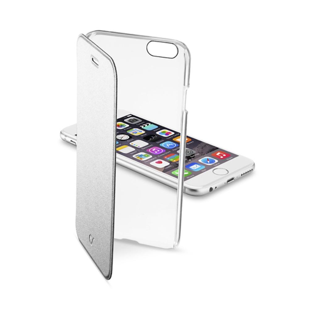 Pouzdro flip Apple iPhone 6 CellularLine Clear Book stříbrné ... af3ee99a5c0
