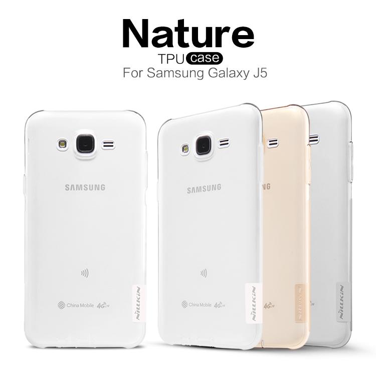 Silikonové pouzdro Nillkin Nature pro Samsung Galaxy J5 J500 šedé