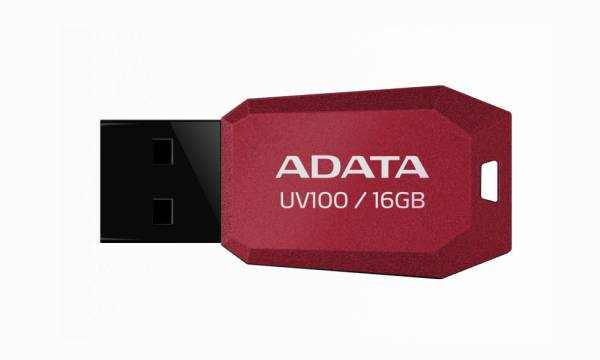 ADATA UV100 Flash 16GB, USB 2.0 červený