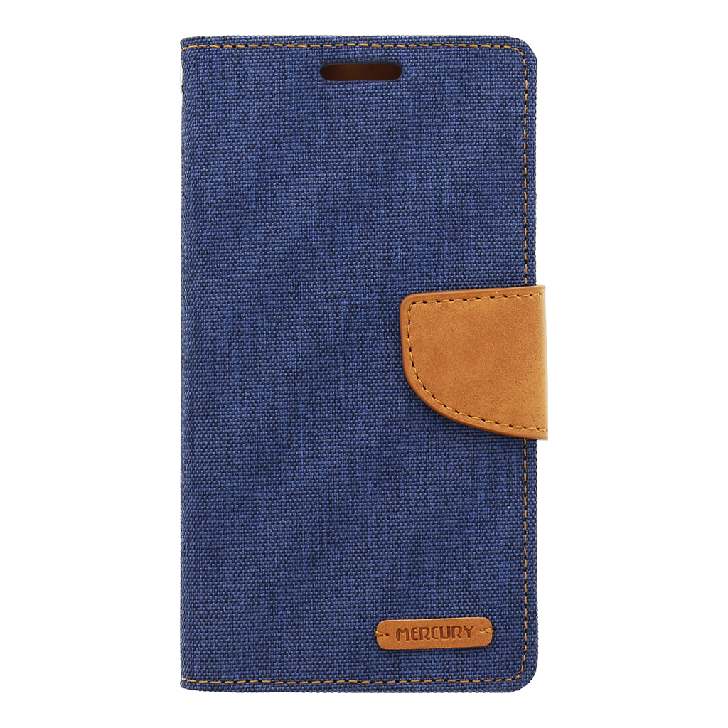 Pouzdro na Sony Xperia M4 Aqua (E2303) Mercury Canvas tmavě modré