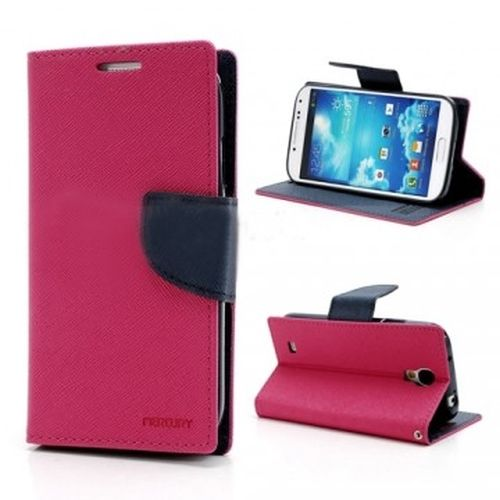 Pouzdro na Samsung Galaxy J500 Mercury Fancy tmavě růžovo-modré