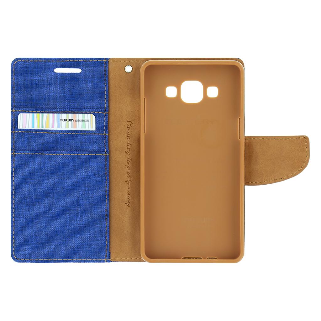 Pouzdro na Apple iPhone 5 5S SE Mercury Canvas modré - Flipová ... 73249712fb0