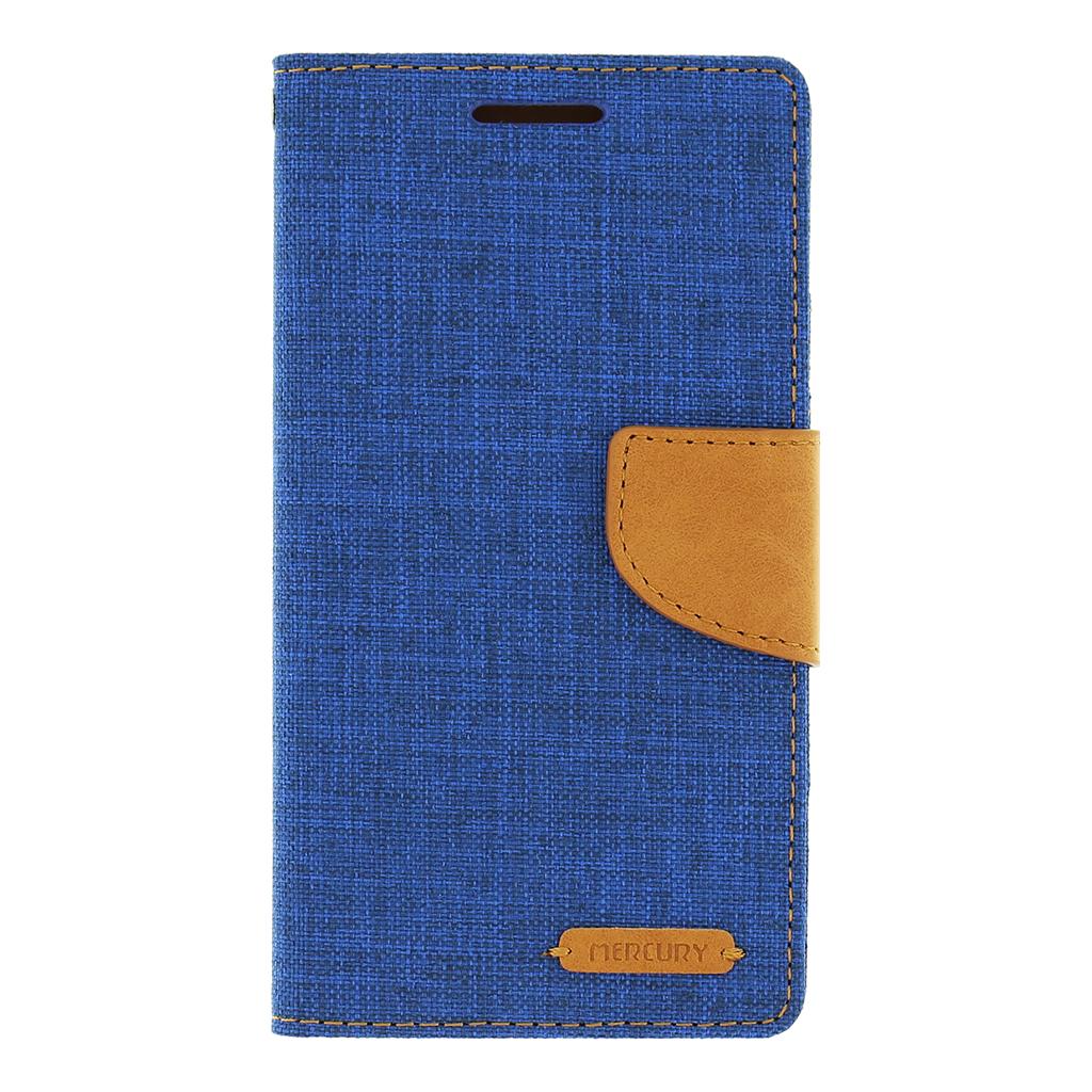 Pouzdro na Sony Xperia M4 Aqua Mercury Canvas modré