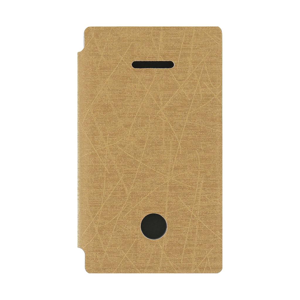 Flipové pouzdro pro Microsoft Lumia 532 Pudini zlaté