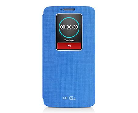 Pouzdro na mobil LG G2 (D802) S-View modré
