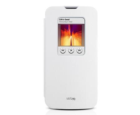 Pouzdro na mobil LG L90 (D405n) S-view bílé