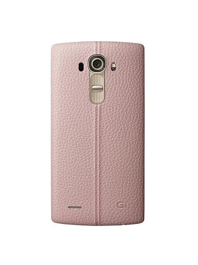 Kožený zadní kryt na mobil LG G4 růžové