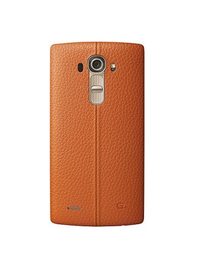 Kožený zadní kryt na mobil LG G4 oranžový