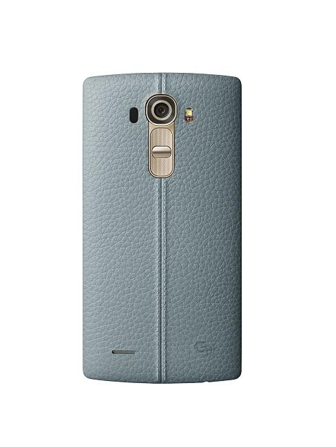 Kožený zadní kryt na mobil LG G4 modrý