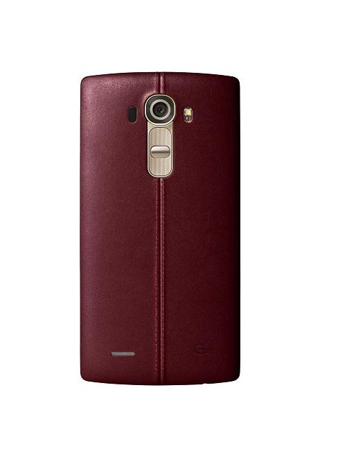 Kožený zadní kryt na mobil LG G4 červený