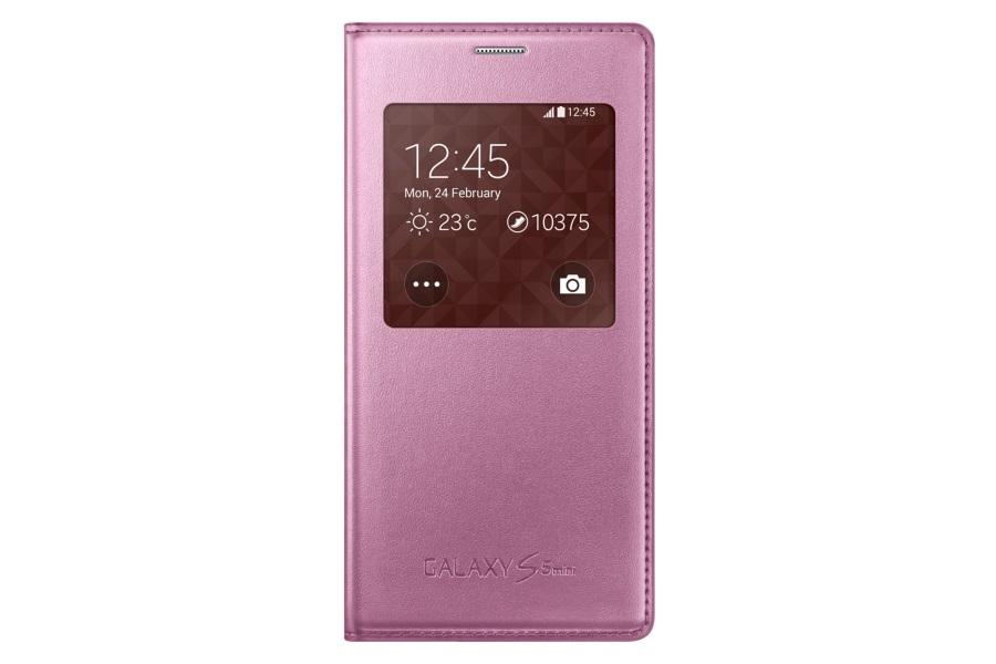 Samsung flipové pouzdro s oknem EF-CG800BPE pro Galaxy S5 mini Metallic Pink