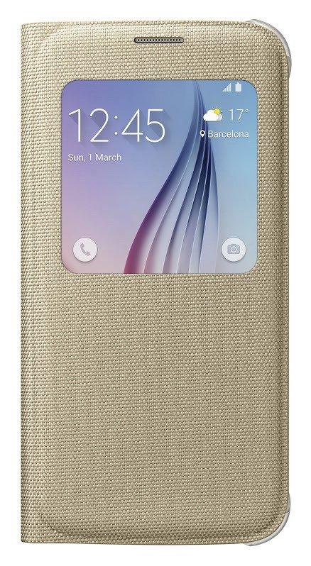 Pouzdro na mobil Samsung Galaxy S6 EF-CG920BFE S-view zlaté