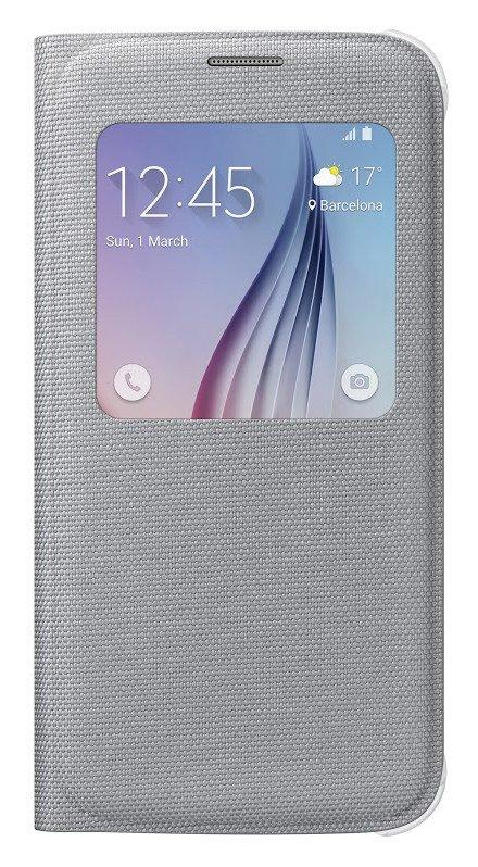 Pouzdro na mobil Samsung Galaxy S6 (G920) EF-CG920BSE S-view stříbrné
