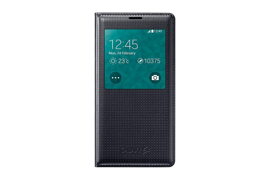 Pouzdro na mobil Samsung Galaxy S5 EF-CG900BKE S-view černé