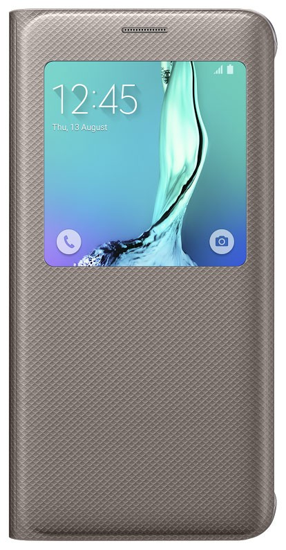 Pouzdro Samsung Galaxy S6 Edge+ EF-CG928PF S-view zlaté