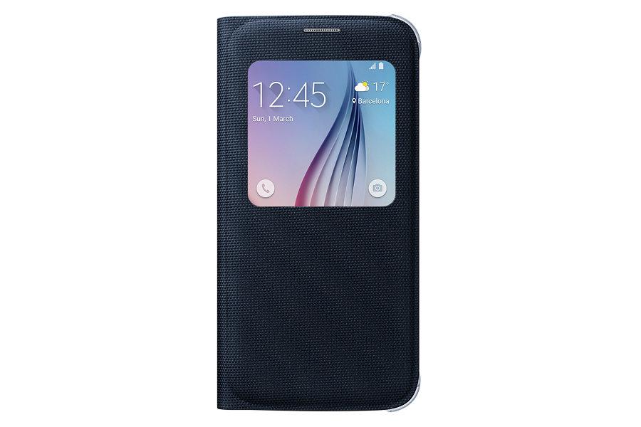 Pouzdro na mobil Samsung Galaxy S6 EF-CG920BBE S-view černé