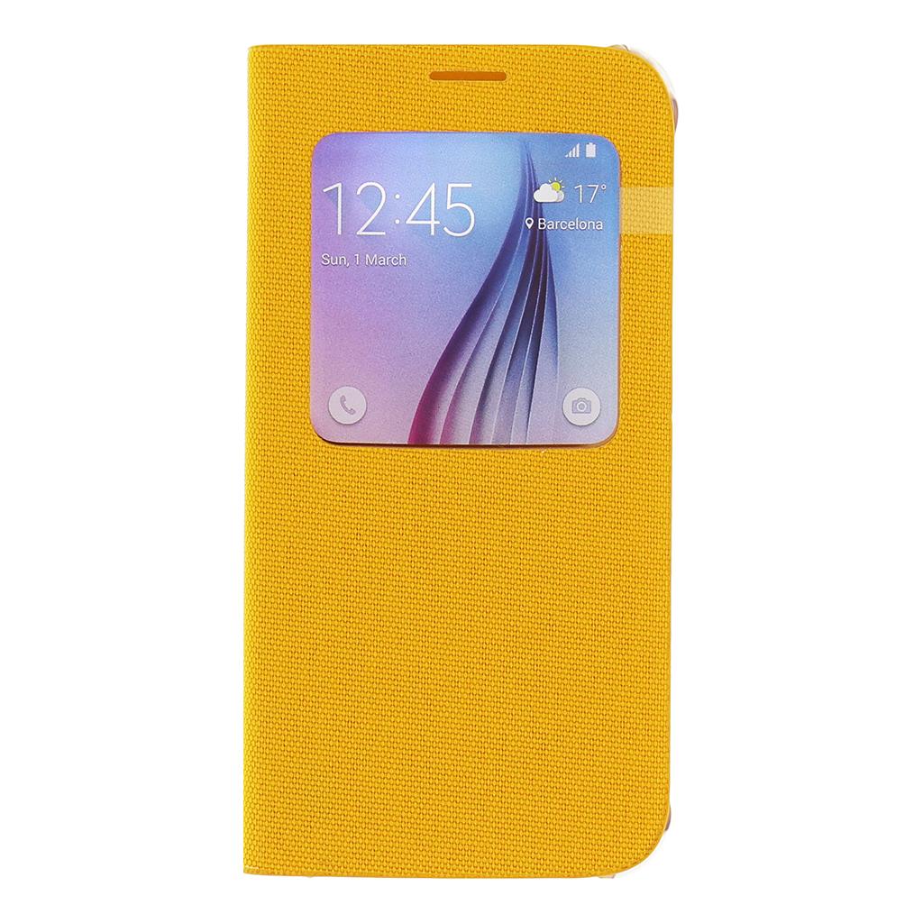 Pouzdro na mobil Samsung Galaxy S6 EF-CG920BYE S-view žluté