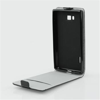 Pouzdro flip Samsung Galaxy A3 ForCell Slim Flexi Fresh černé