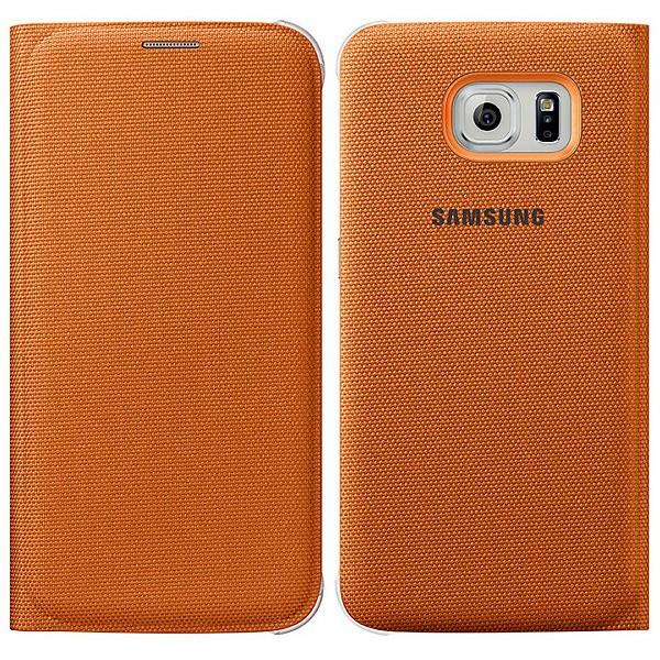 Originální pouzdro na Samsung Galaxy S6 EF-WG920BOE oranžové