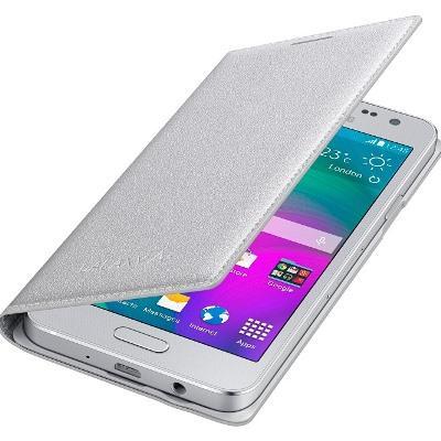 Originální pouzdro na Samsung Galaxy A3 EF-FA300BSE stříbrné