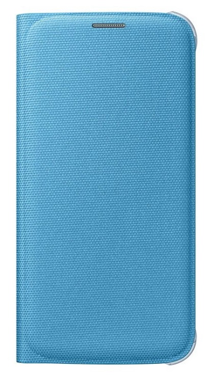 Originální pouzdro s kapsou na Samsung Galaxy S6 EF-WG920B modré