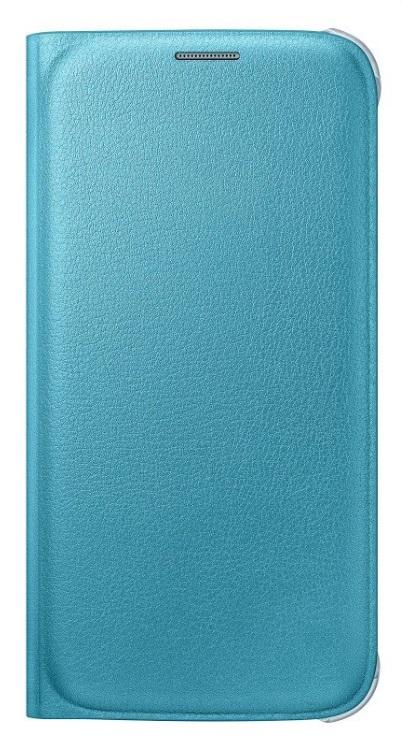 Originální pouzdro s kapsou pro Samsung Galaxy S6 EF-WG920P modré