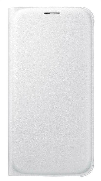 Originální pouzdro s kapsou na Samsung Galaxy S6 EF-WG920P bílé