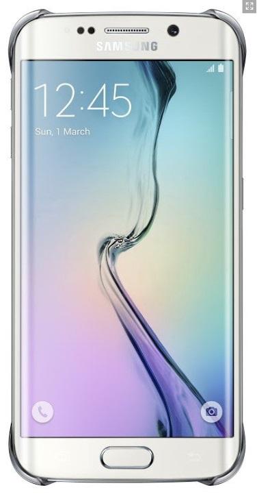 Originální zadní kryt na Samsung Galaxy S6 Edge EF-QG925B stříbrné